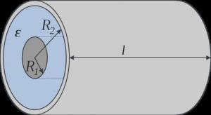 Ёмкость цилиндрического конденсатора